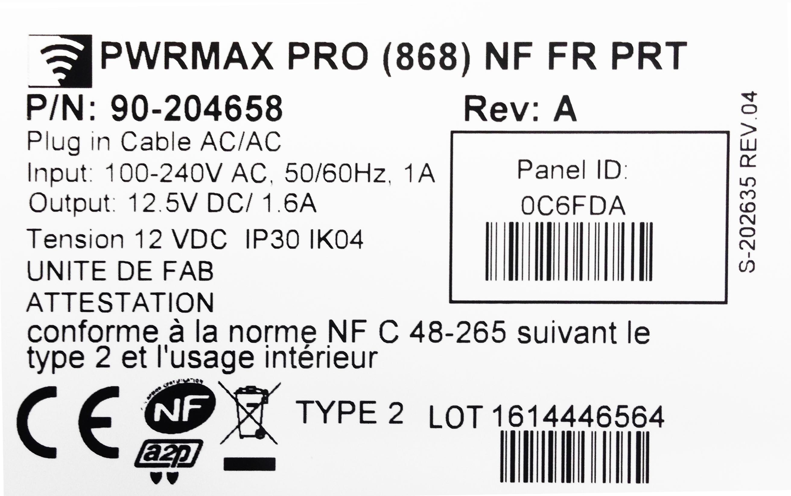 label produit nfa2p